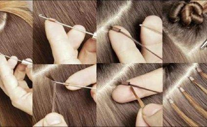 Как снять нарощенные волосы: